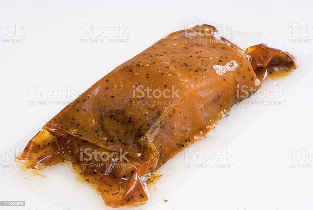 Frozen vacuum packed wild salmon royalty-free stock photo