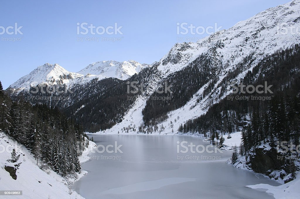 Frozen valley royalty-free stock photo