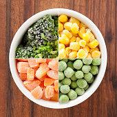 Frozen veggies composition