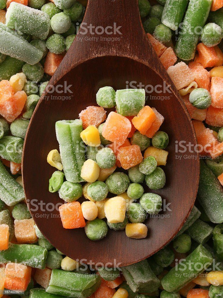 Frozen veggies stock photo