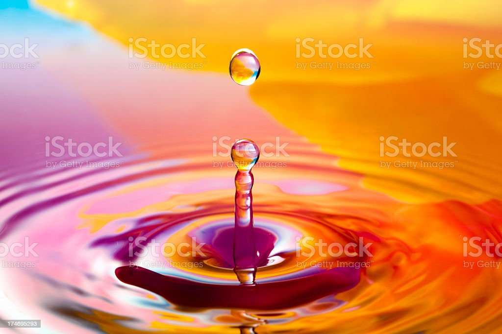 Frozen water drop royalty-free stock photo