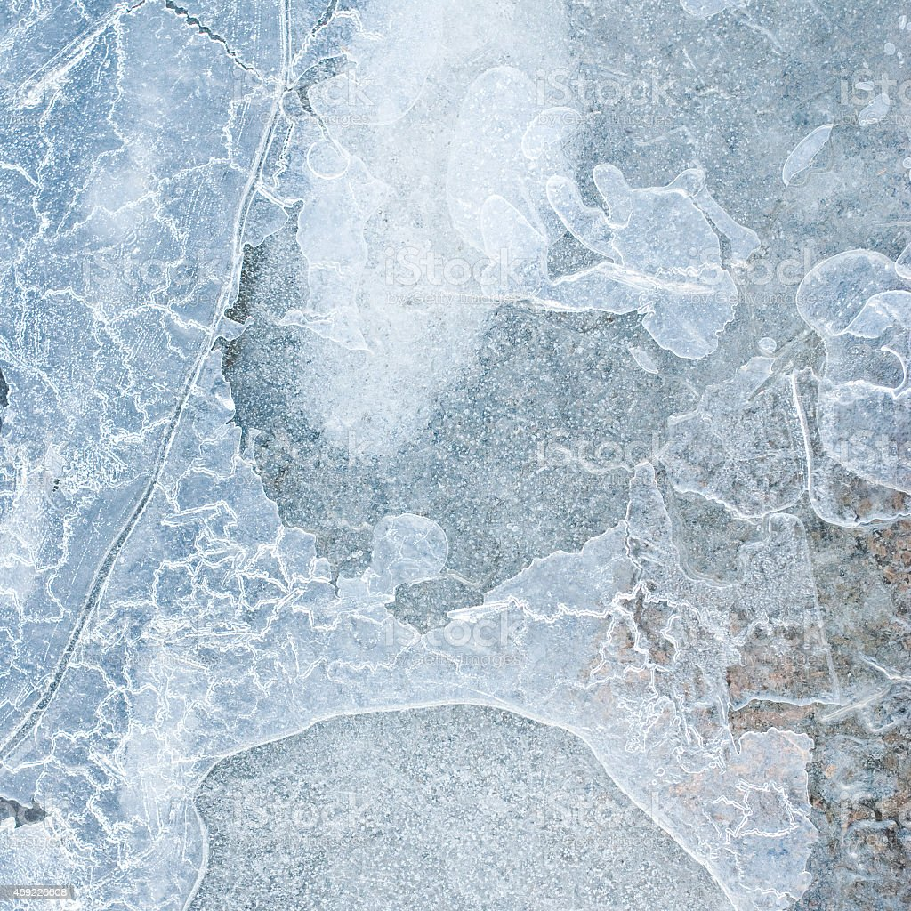 frozen water stock photo