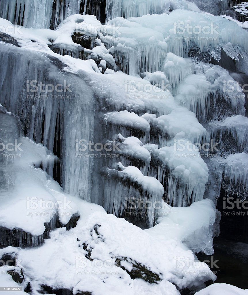 Frozen waterfall royalty-free stock photo