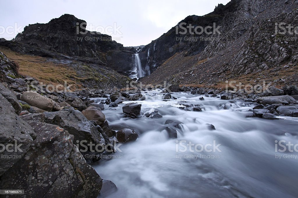 Frozen Waterfall south east iceland royalty-free stock photo