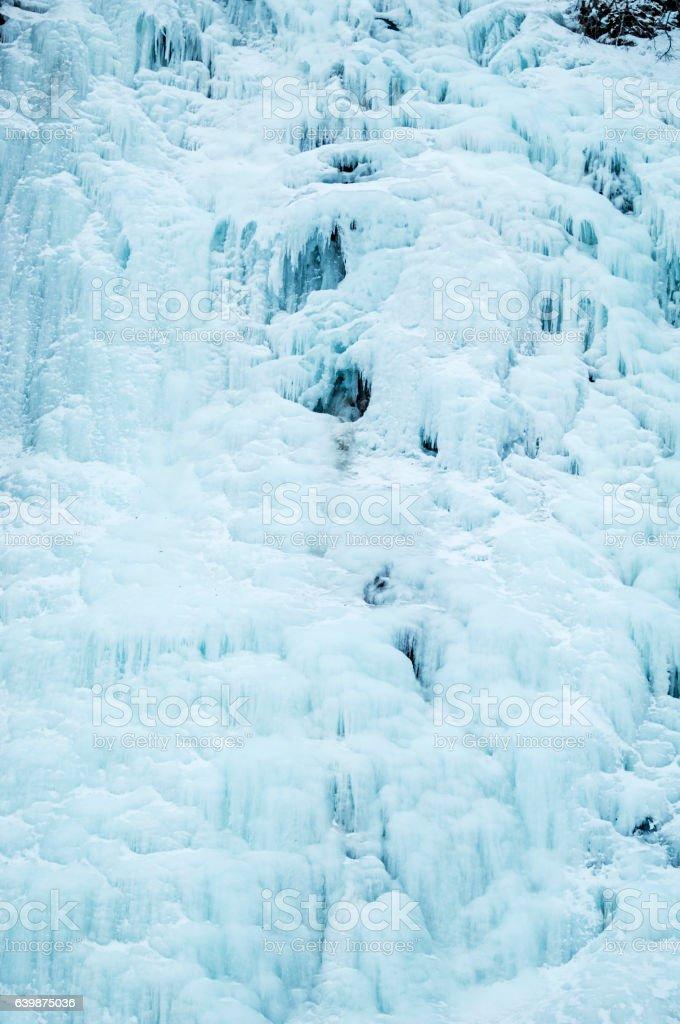 Frozen Waterfall – Valdez, Alaska stock photo