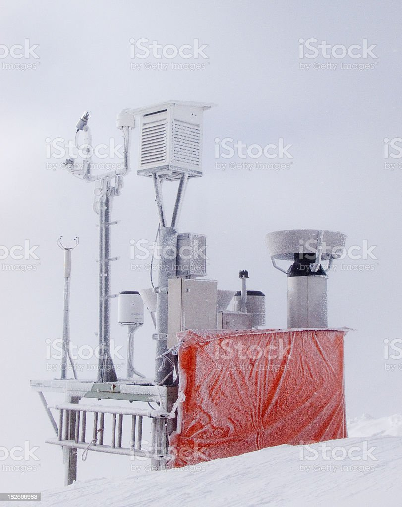 Frozen Weather Instruments royalty-free stock photo