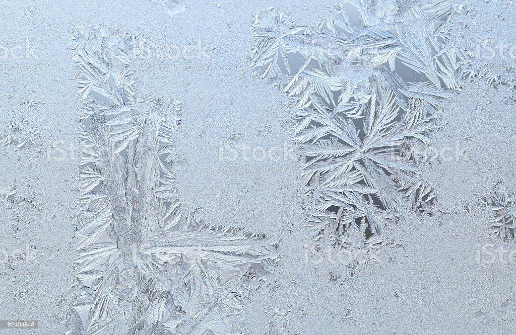 Frozen window glass royalty-free stock photo