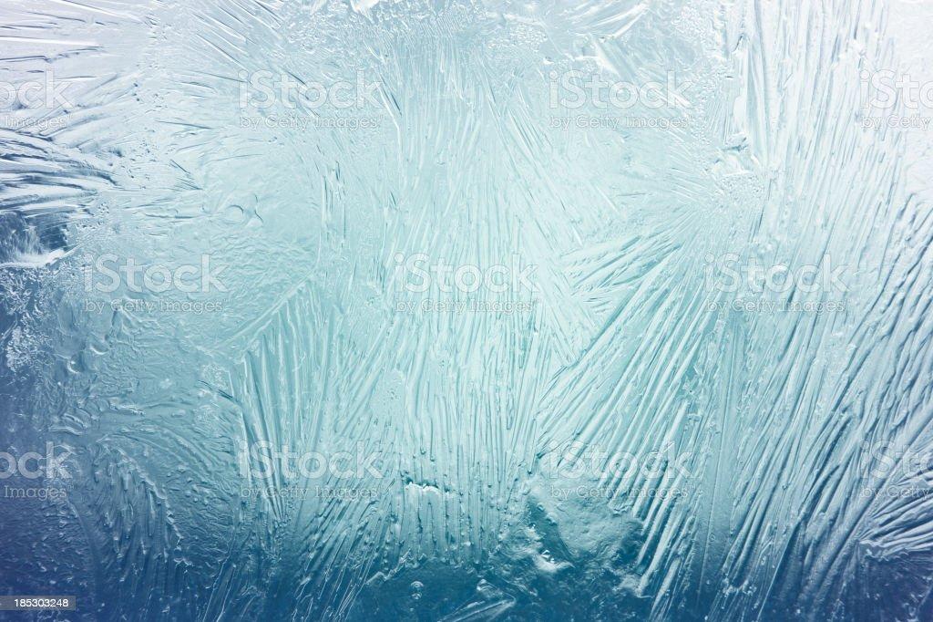 Frozen window stock photo