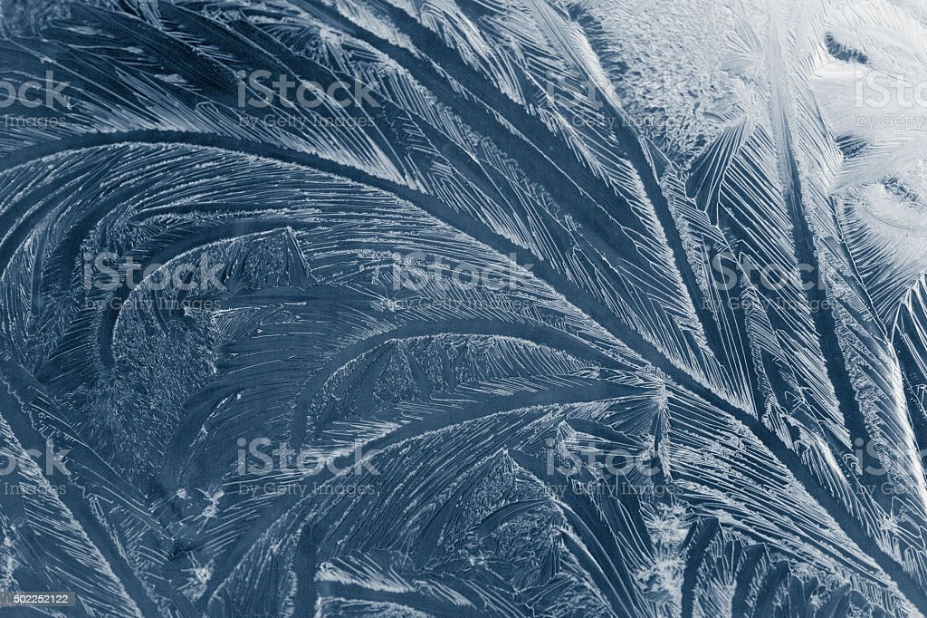 Frozen windows stock photo