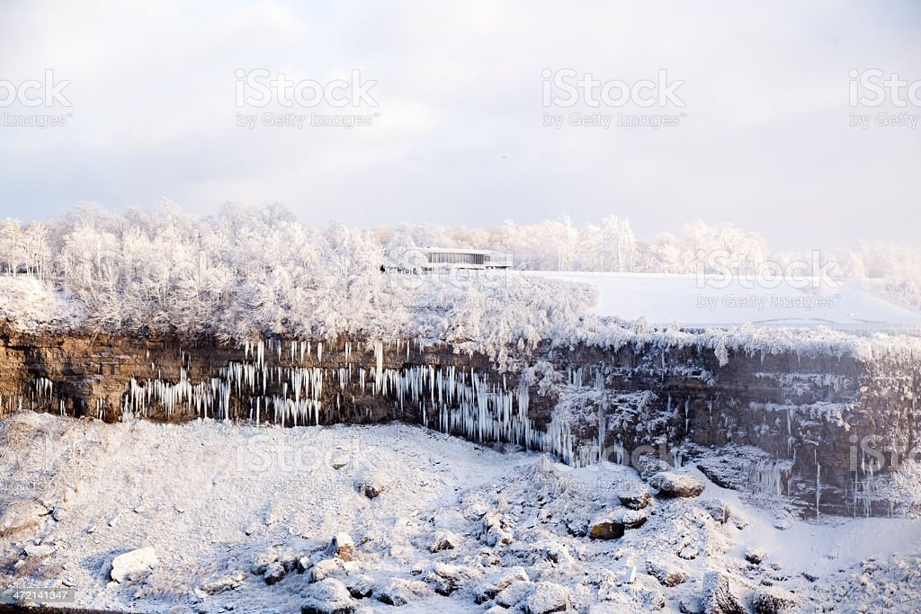 Frozen Winter Niagara Falls royalty-free stock photo