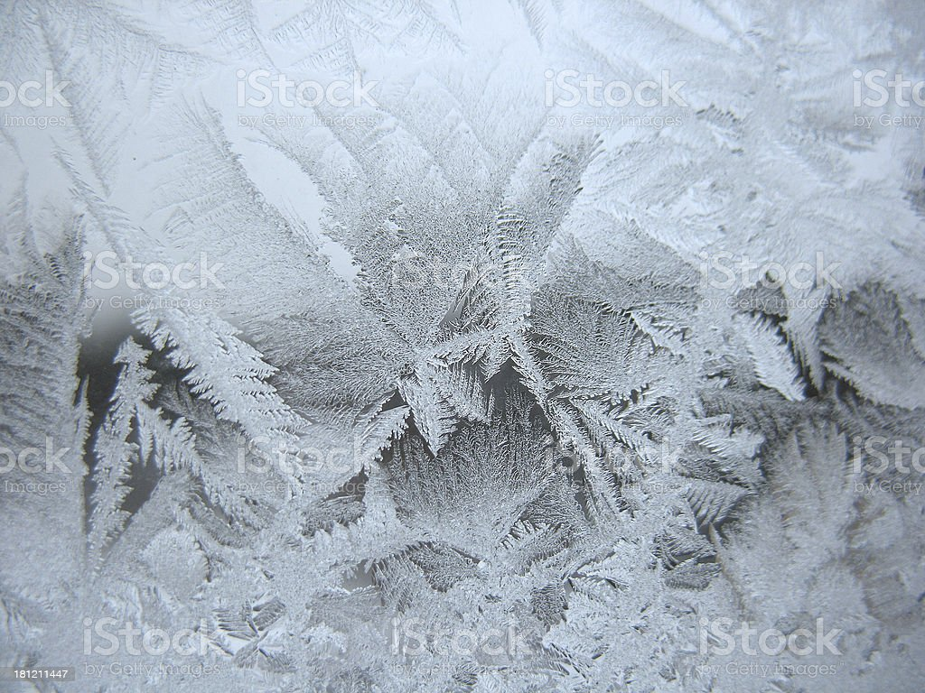 frozen winter window royalty-free stock photo