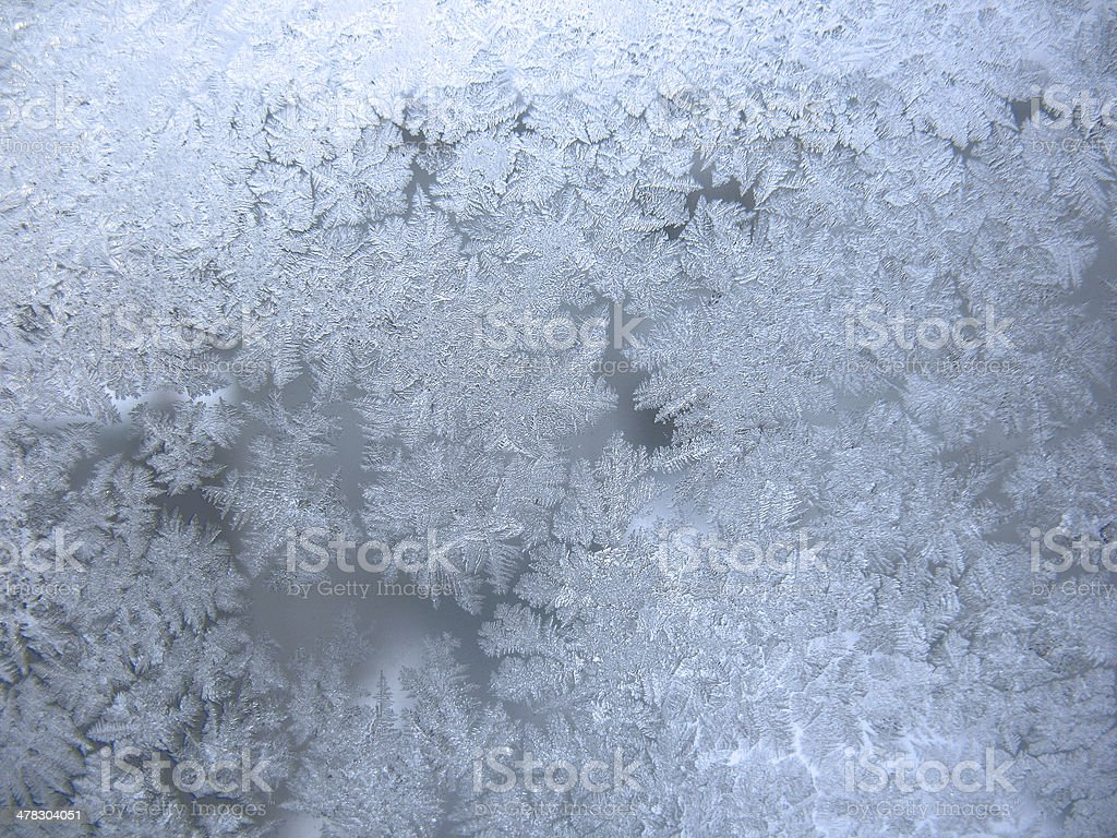 frozen winter window stock photo