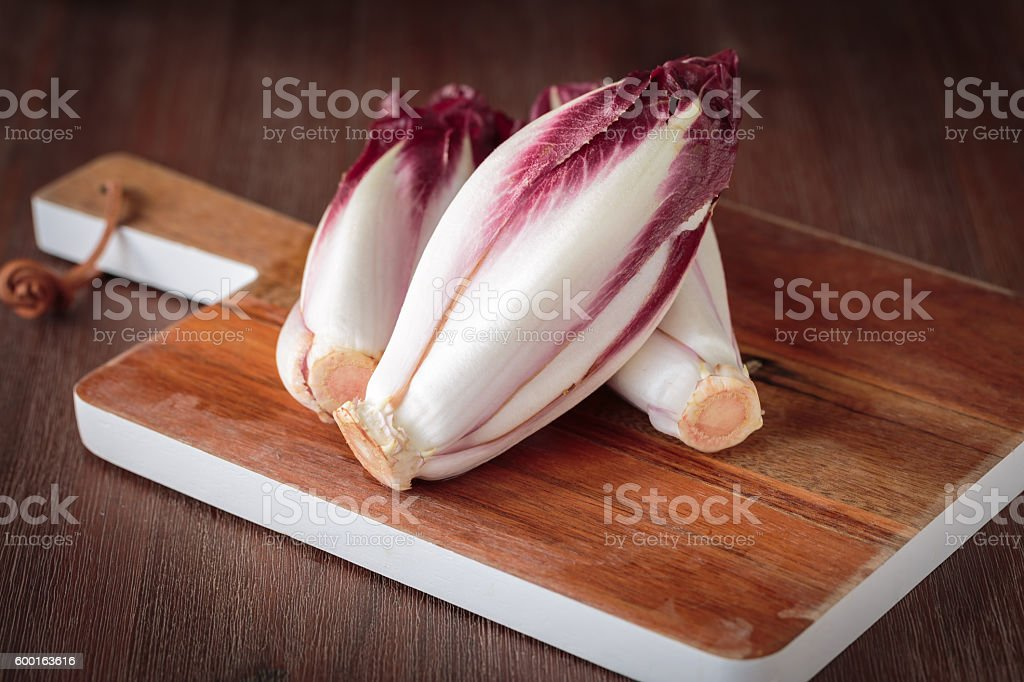 Frsh red endive stock photo