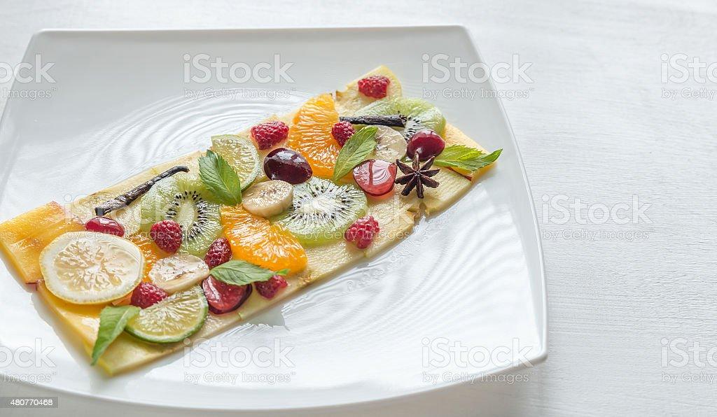 Fruit and berry carpaccio stock photo