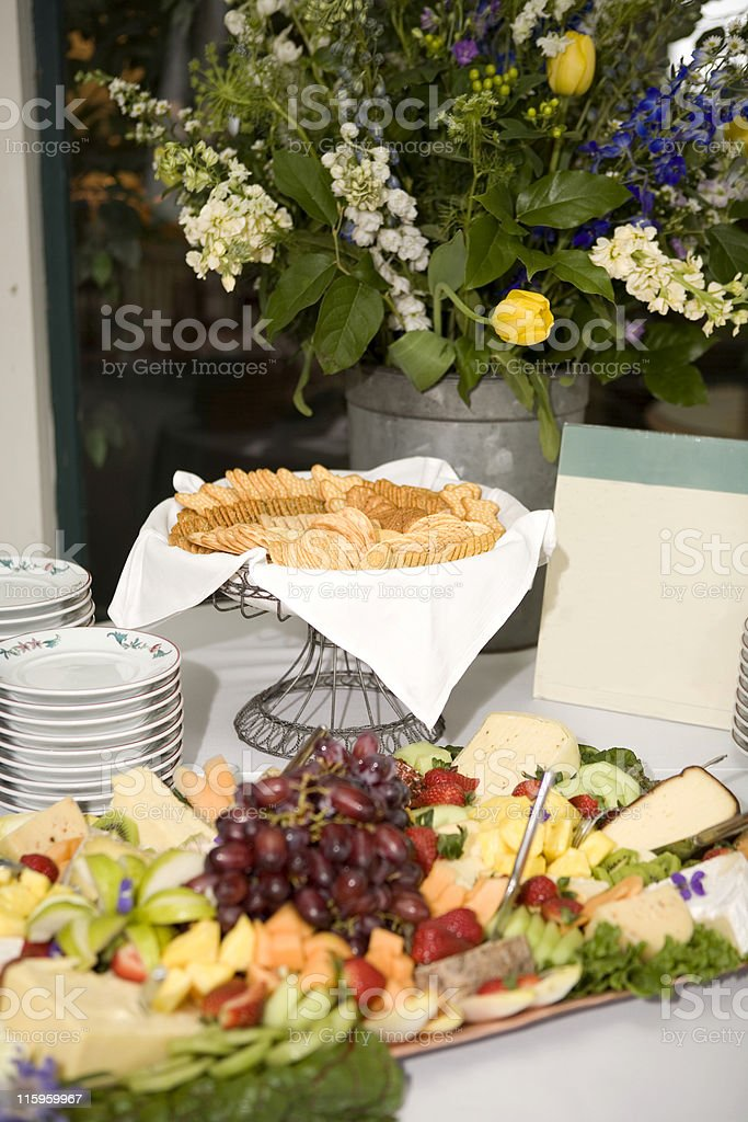 Fruit and Cheese royalty-free stock photo