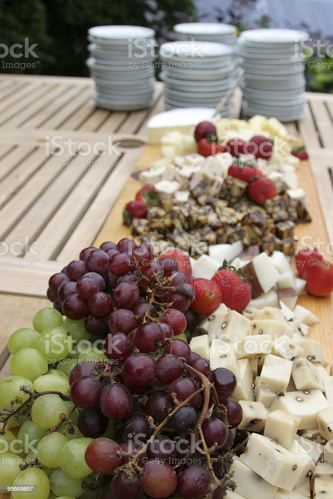 Fruit and Cheese Spread royalty-free stock photo
