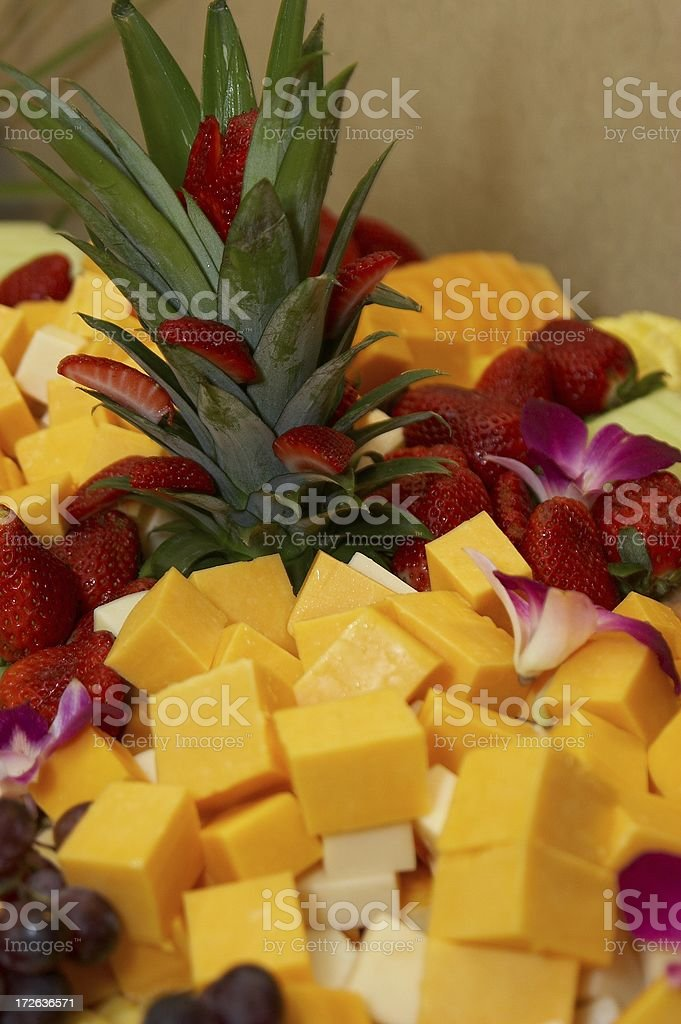 Fruit and Cheese Tray royalty-free stock photo