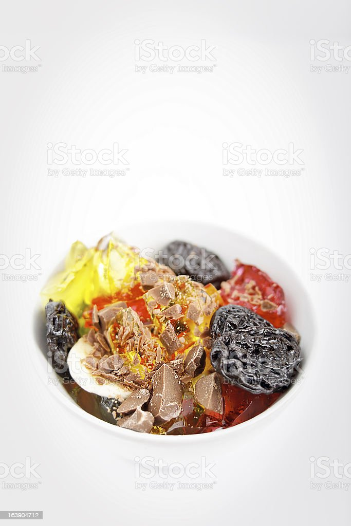 fruit and chocolate dessert royalty-free stock photo