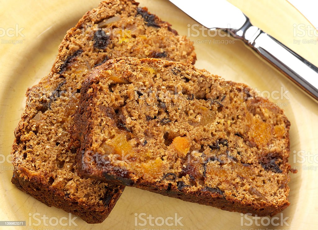 Fruit and Ginger tea bread royalty-free stock photo