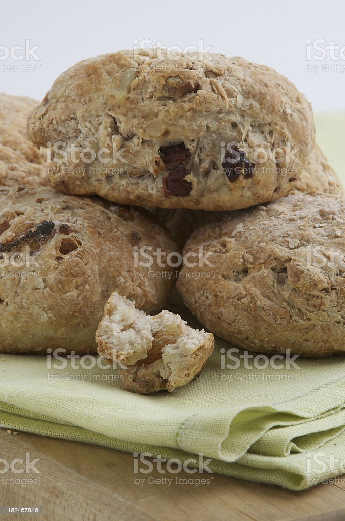 fruit and nut scones stock photo