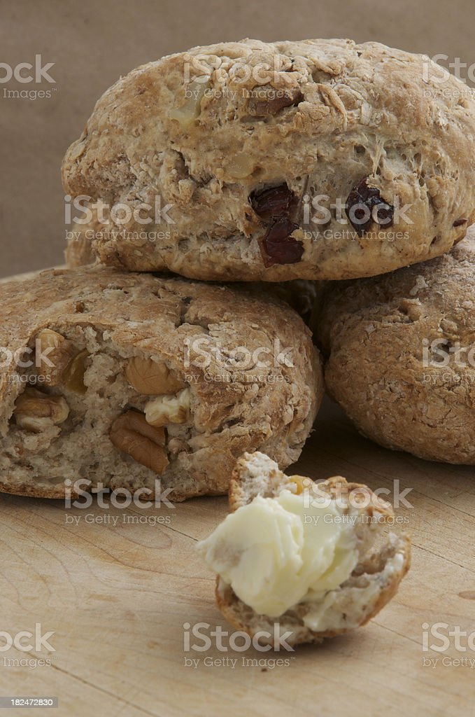 fruit and nut scones royalty-free stock photo