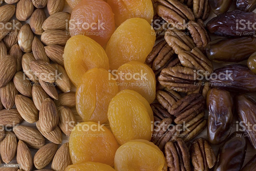 Fruit and nuts 2 royalty-free stock photo