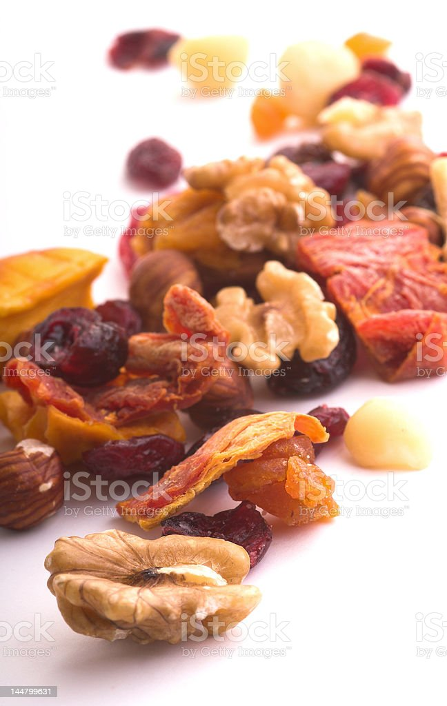 Fruit and Nuts royalty-free stock photo