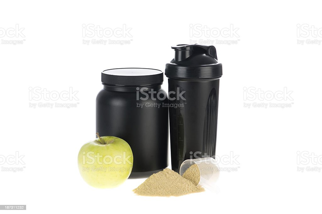 Fruit and proteins royalty-free stock photo
