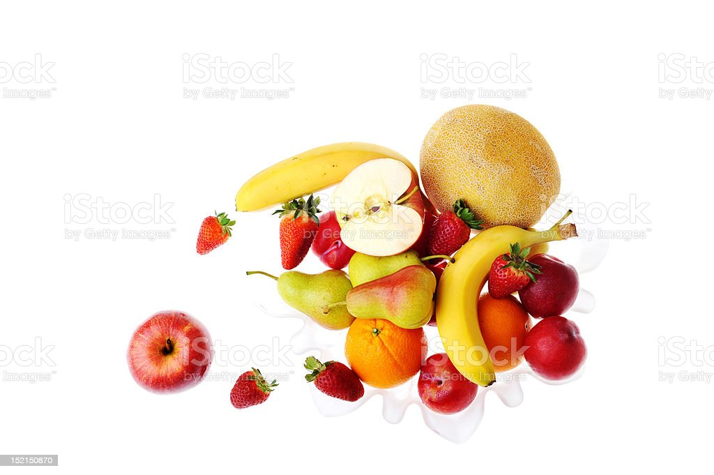fruit and  strawberries royalty-free stock photo