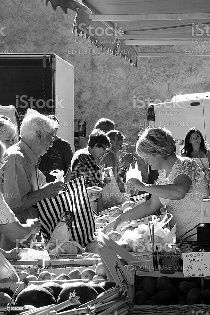 Frutta e vegetale in Marseillan stallo foto stock royalty-free