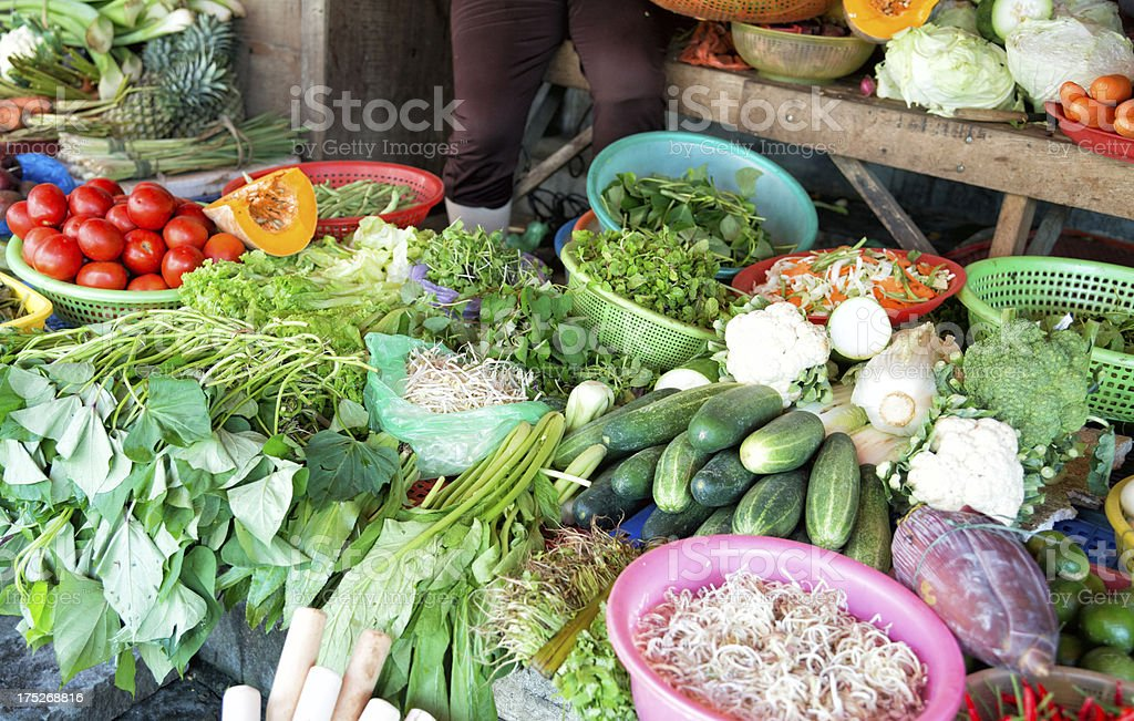 Fruit and Vegatables in Market Vietnam royalty-free stock photo