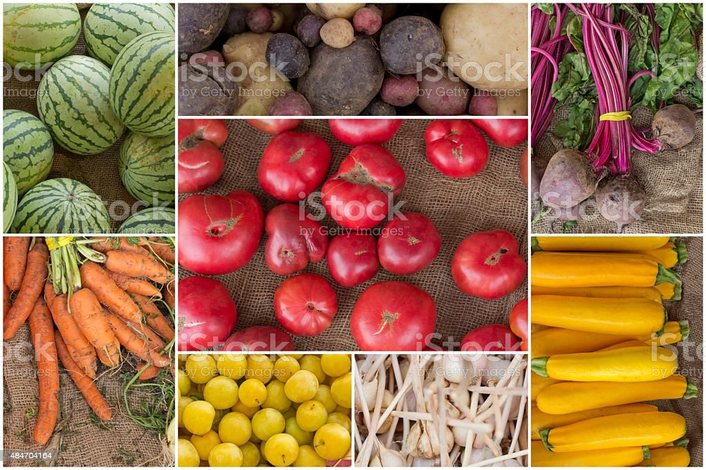 Fruit and Vegetable Collage stock photo