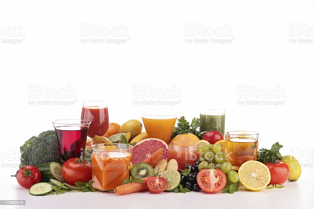 fruit and vegetable juice stock photo