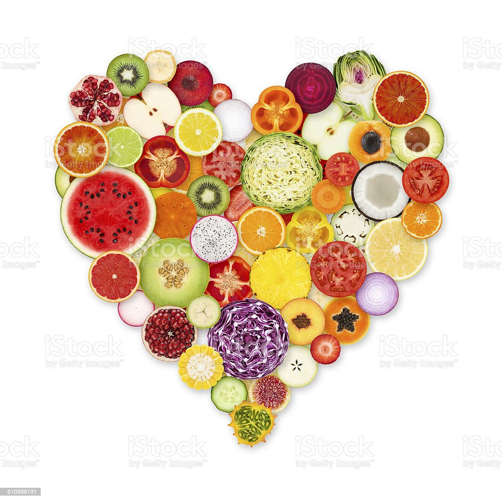 Fruit and vegetable love stock photo