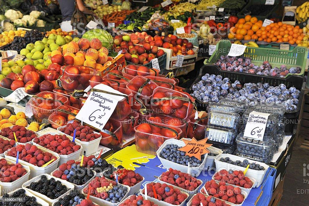 Fruit and Vegetable Market in Zakopane Poland royalty-free stock photo