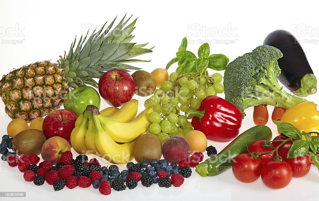 Fruit and vegetable royalty-free stock photo