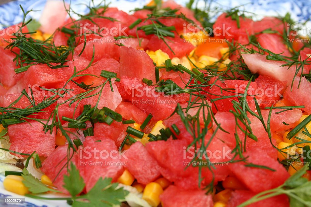 Fruit and Vegetable Salad royalty-free stock photo