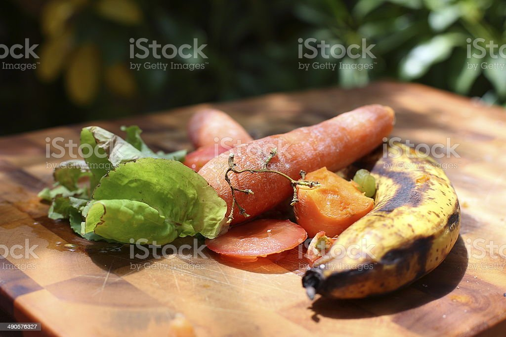 Fruit and Vegetable Scraps stock photo