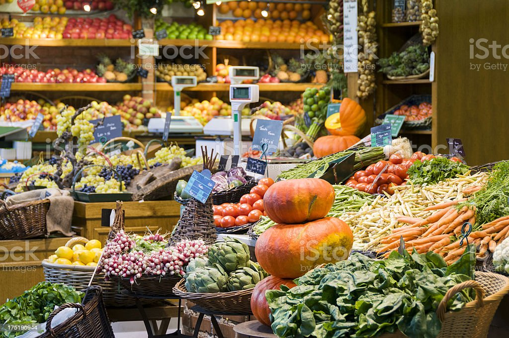 Fruit and Vegetable Shop stock photo