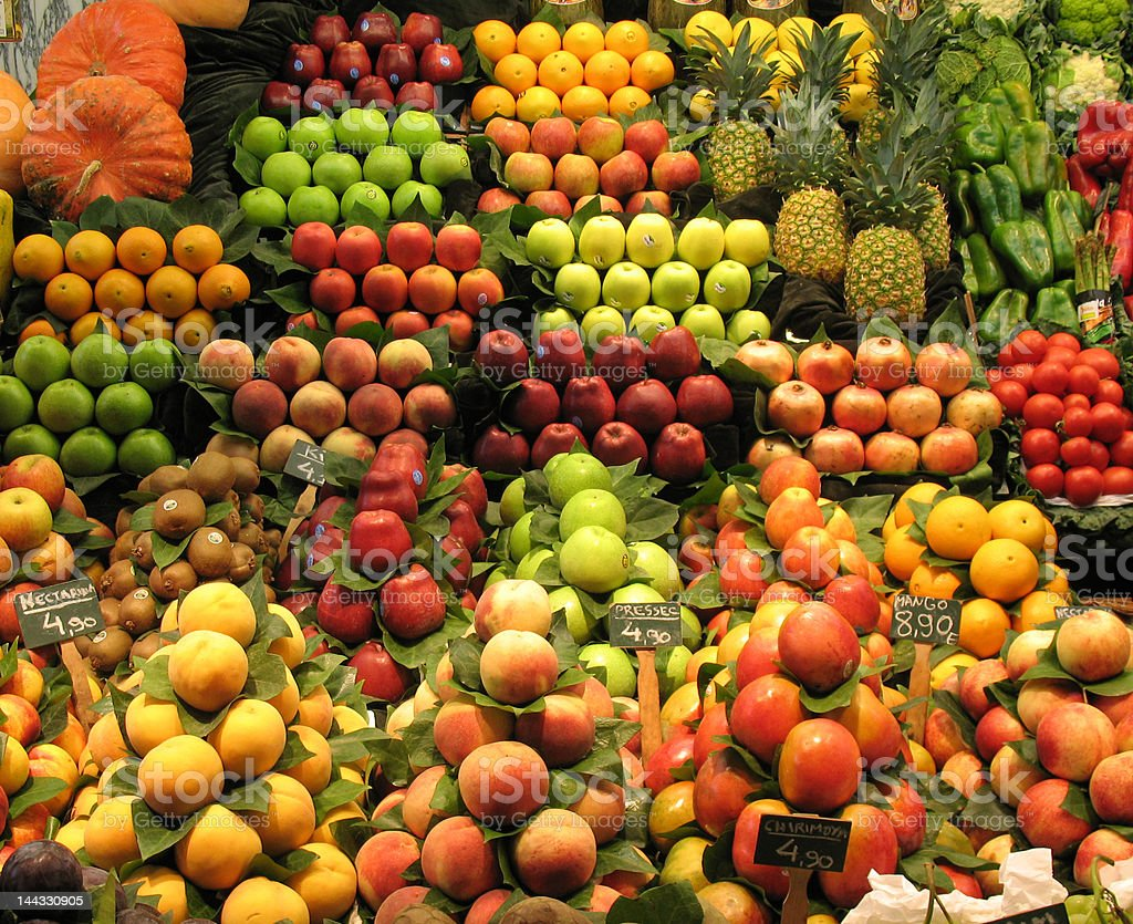 fruit  and vegetable stall royalty-free stock photo