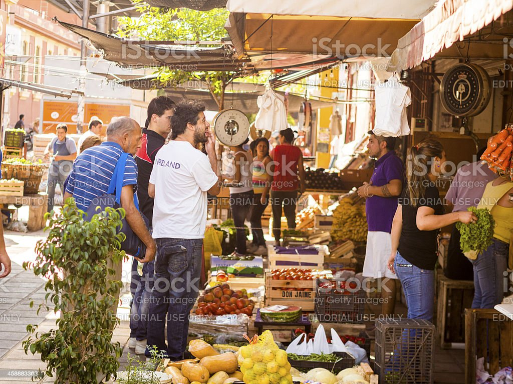 Fruit and Vegetable Stalls, Cordoba, Argentina royalty-free stock photo