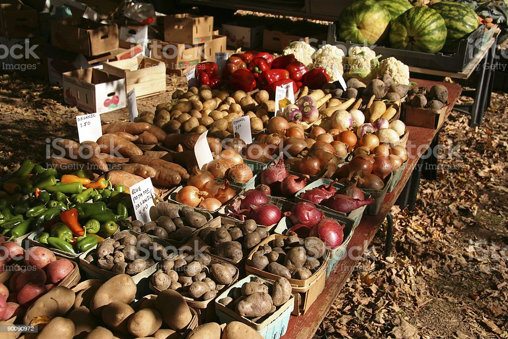 Fruit and Vegetable Stand royalty-free stock photo