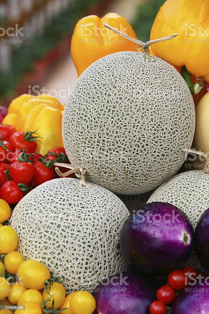 Fruit and Vegetable variety royalty-free stock photo