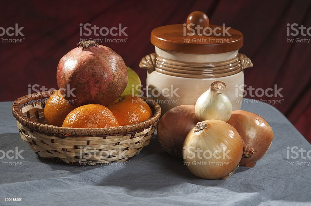 Fruit and vegetables. A still-life. royalty-free stock photo