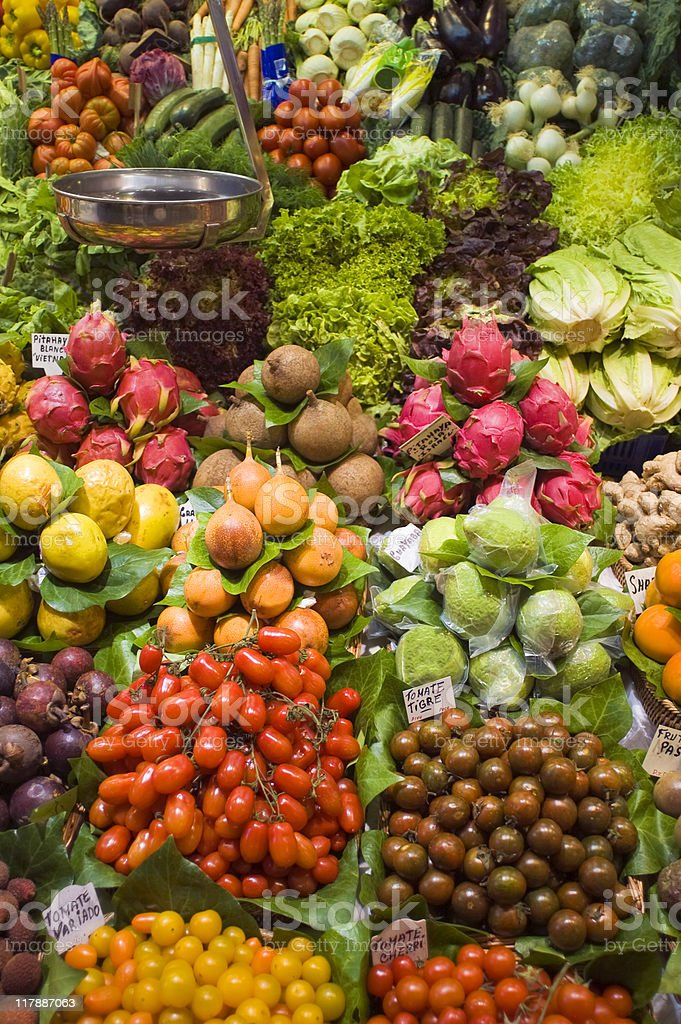 Fruit and vegetables. royalty-free stock photo