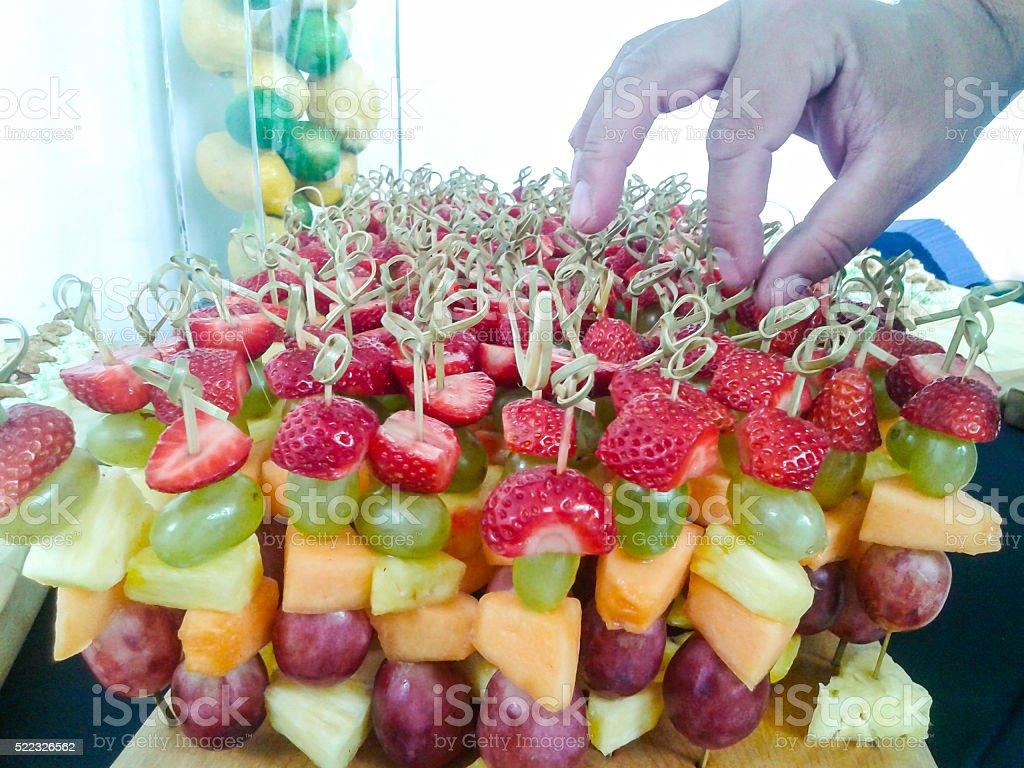 Fruit appetizer stock photo