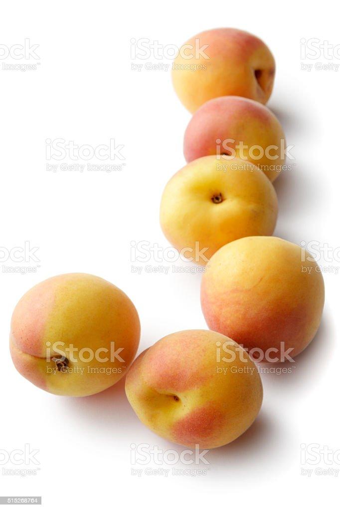 Fruit: Apricots Isolated on White Background stock photo