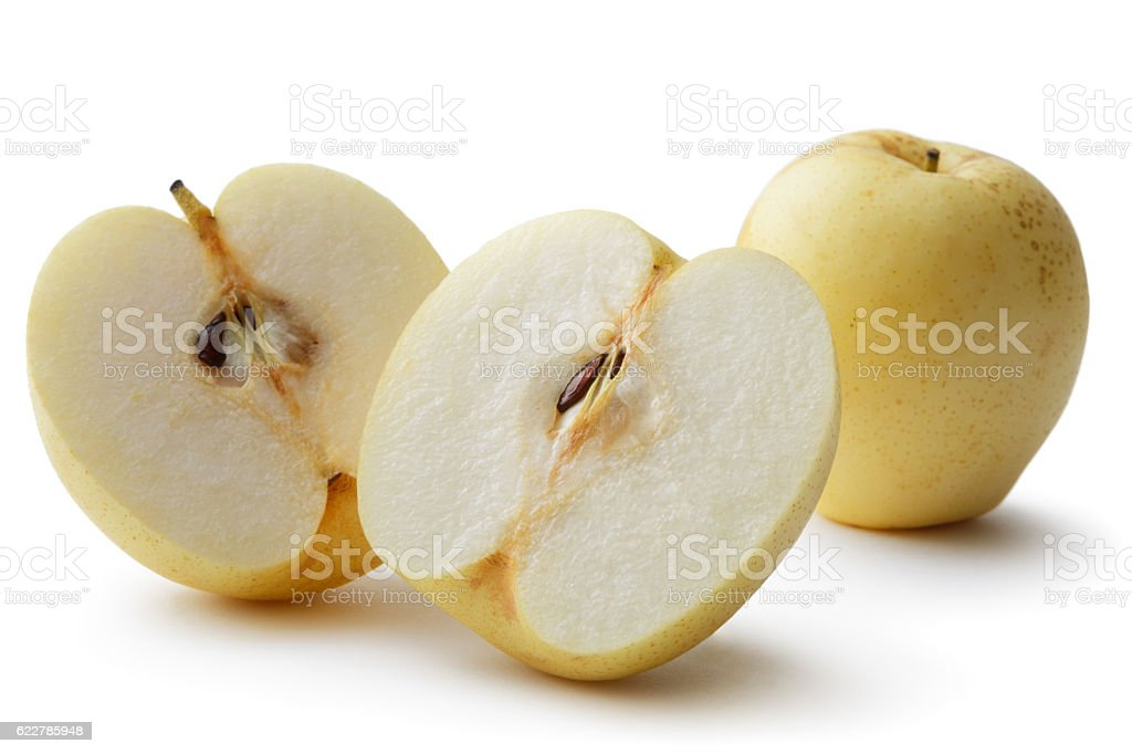 Fruit: Asian Pear Isolated on White Background stock photo