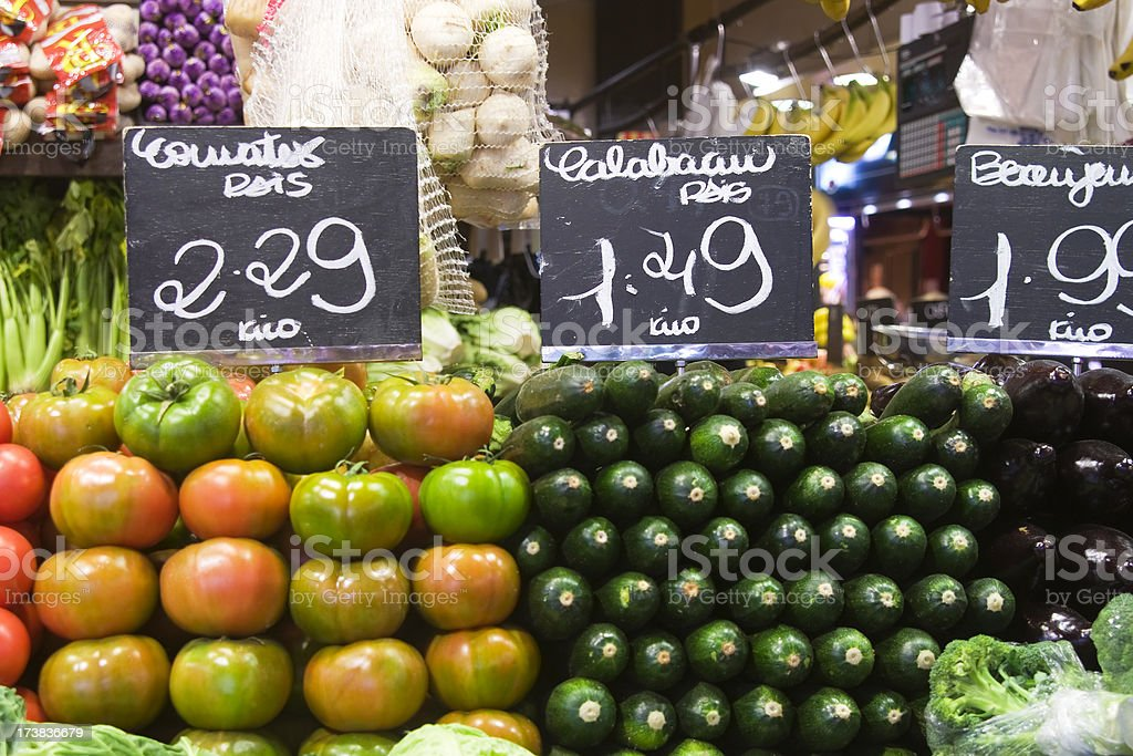 Fruit at a Grocery shop royalty-free stock photo