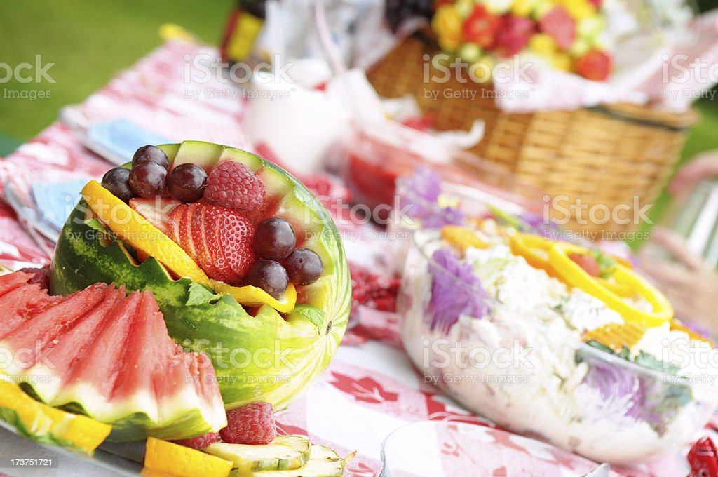 Fruit at Picnic royalty-free stock photo